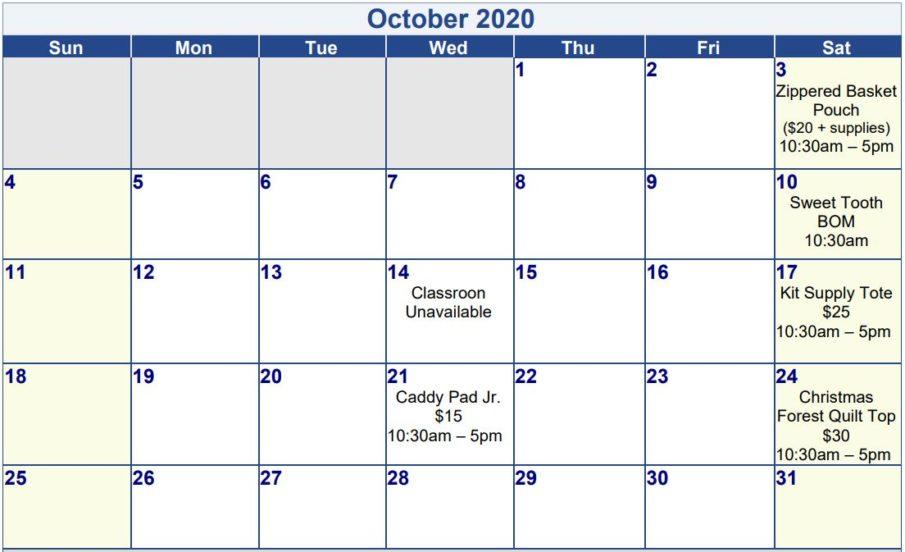 OctoberSchedule
